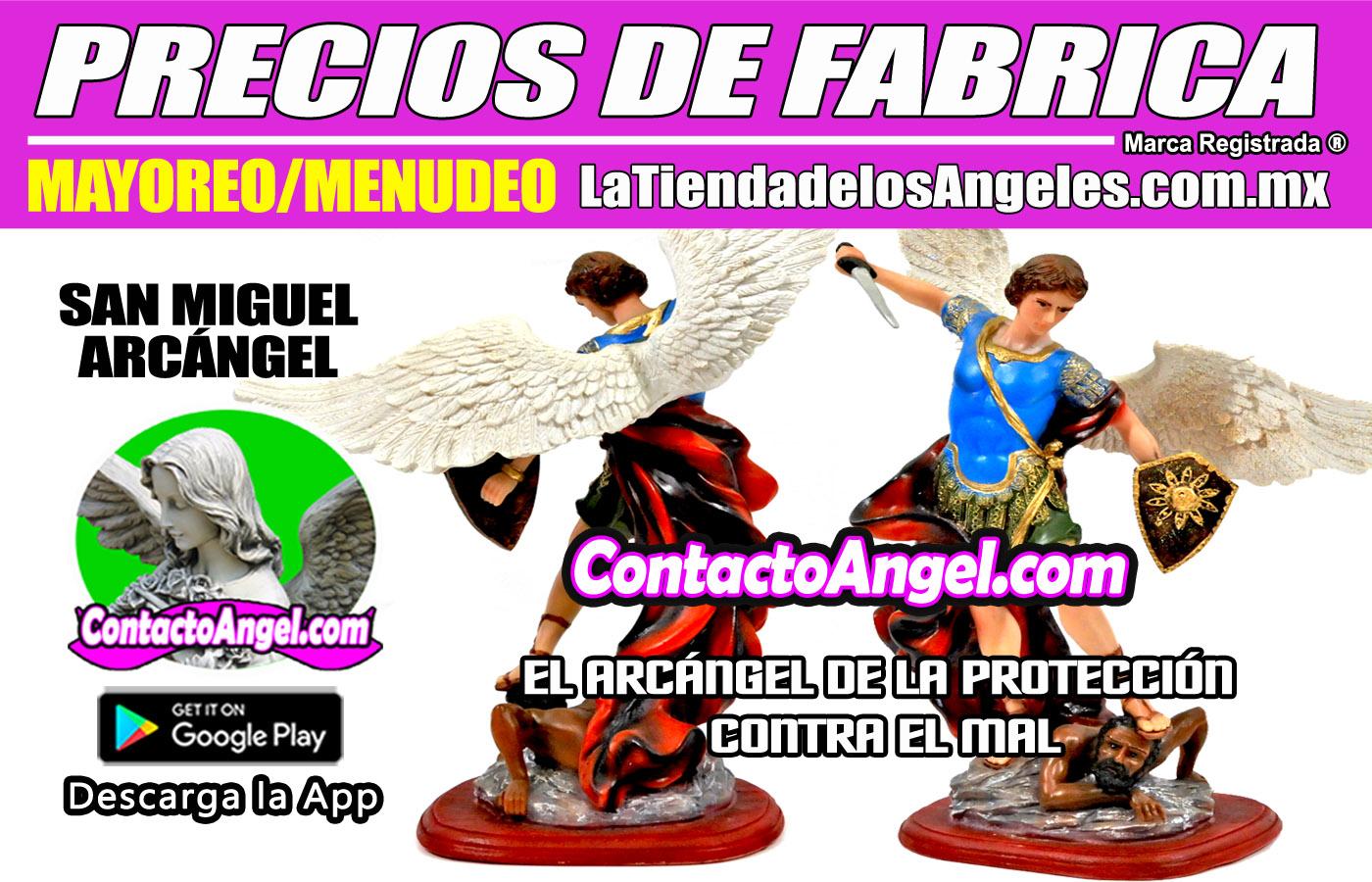 FIGURA ARCÁNGEL MIGUEL APLASTANDO SERPIENTE 1-F- La Tienda de los Ángeles - Mayoreo y Menudeo CDMX copy