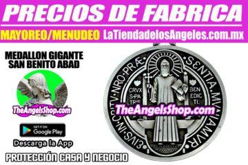 Medallon Gigante San Benito- Protección Hogar y Negocio 1F- La Tienda de los Ángeles - Mayoreo CDMX copy