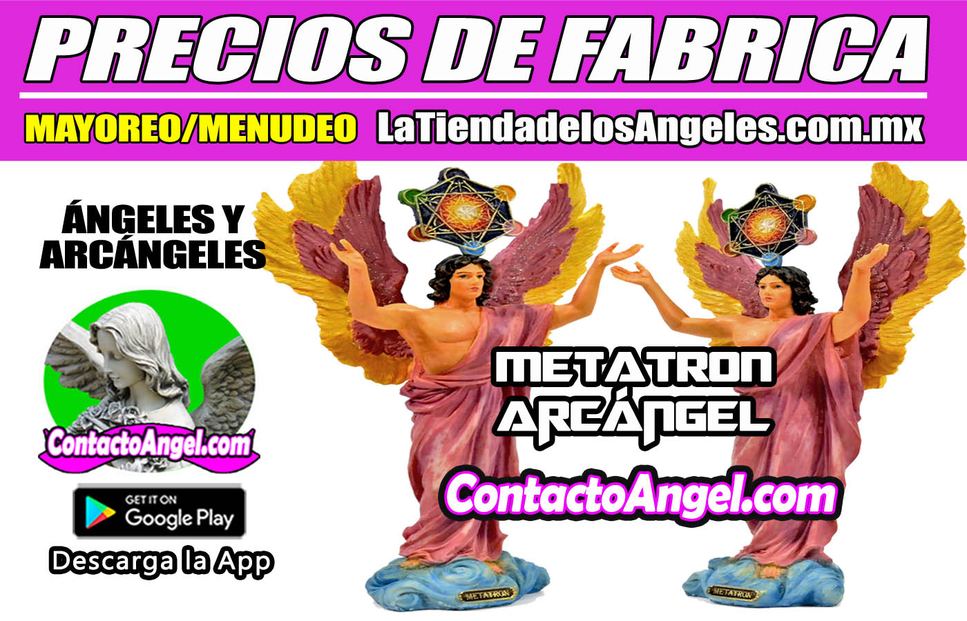FIGURA ARCÁNGEL METATRON GEOMETRIA SAGRADA 1-F - La Tienda de los Ángeles - Mayoreo y Menudeo CDMX copy