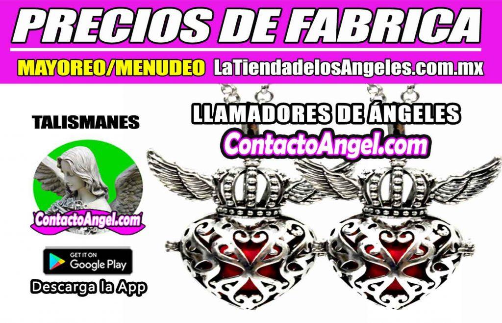 Llamadores de Ángeles - Corazón con Alas Blanco 1F- La Tienda de los Ángeles - Mayoreo CDMX copy