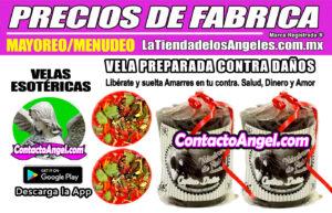 VELADORA ESOTÉRICA CONTRA DAÑOS PRECIOS DE FÁBRICA 1F- La Tienda de los Ángeles - Mayoreo y Menudeo CDMX