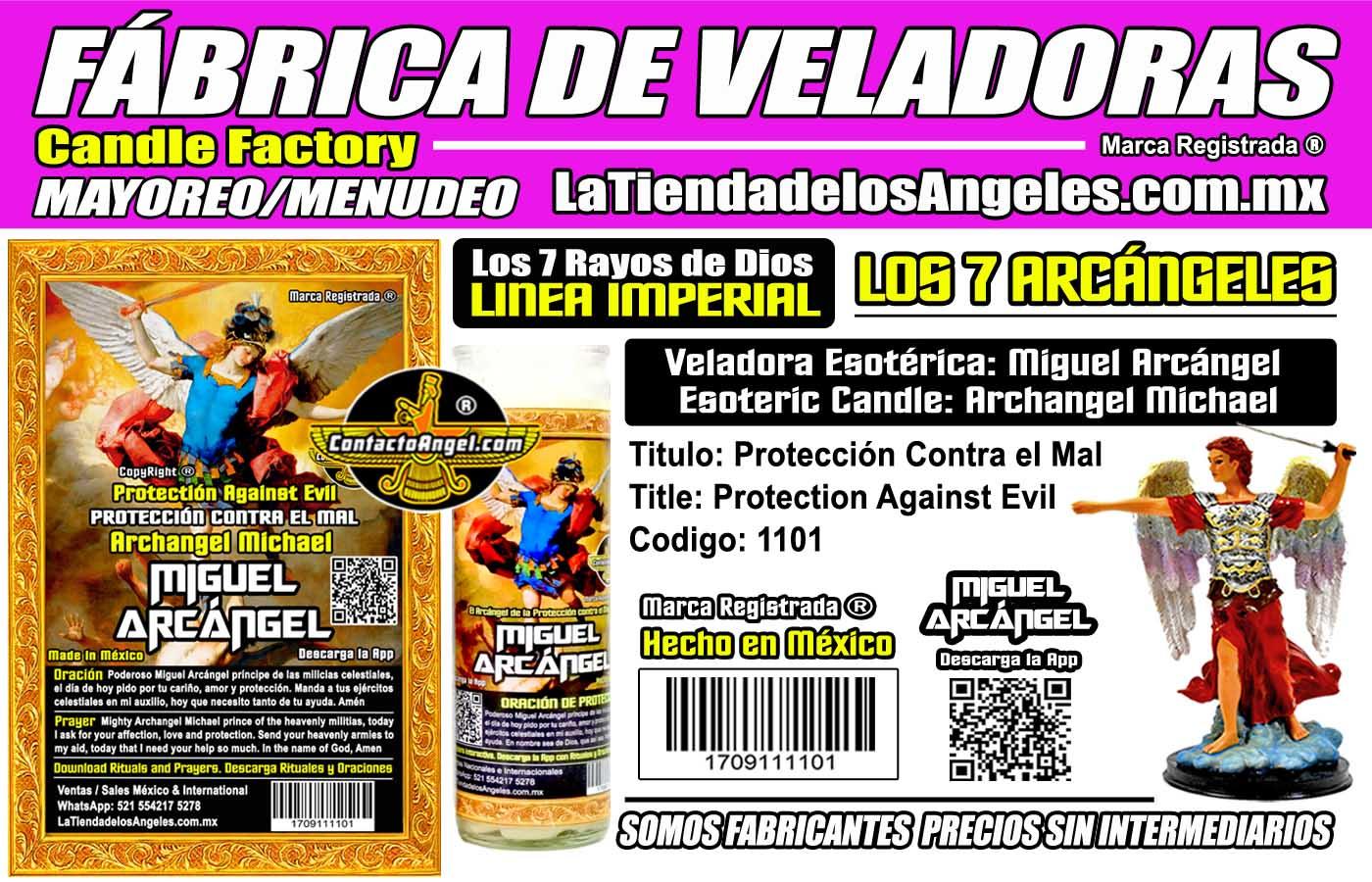 Fábrica de Veladoras Esotéricas CDMX Mayoreo - Miguel Arcángel Protección contra el Mal 1101 ID1