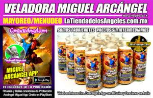 Veladora Arcángel Miguel Protección - Fábrica de Veladoras Esotéricas Mayoreo - LaTiendadelosAngeles A2