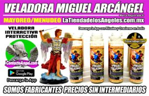 Veladora Arcángel Miguel Protección - Fábrica de Veladoras Esotéricas Mayoreo - LaTiendadelosAngeles A6