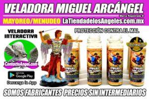 Veladora Arcángel Miguel Protección - Fábrica de Veladoras Esotéricas Mayoreo - LaTiendadelosAngeles A6 600X400
