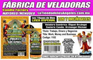Fábrica de Veladoras Esotéricas CDMX Mayoreo - Veladora Miguel Arcángel Trabajo y Dinero