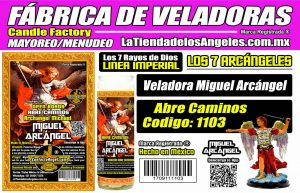 Fábrica de Veladoras Esotéricas CDMX Mayoreo - Veladora Miguel Arcángel Abre Caminos