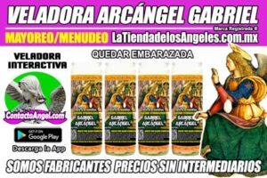 Fábrica de Veladoras Esotéricas CDMX Mayoreo - Veladora Arcángel Gabriel Quedar Embarazada - Santo Patrón de los Nacimientos