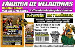 Fábrica de Veladoras Esotéricas CDMX Mayoreo - Veladora Arcángel Gabriel Bendición del Parto- Santo Patrón de las Salas de Parto