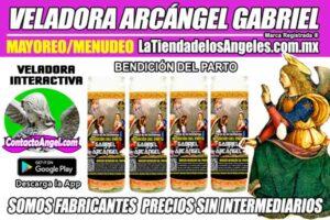 Fábrica de Veladoras Esotéricas CDMX Mayoreo - Veladora Arcángel Gabriel Bendición del Parto - Santo Patrón de las Salas de Parto