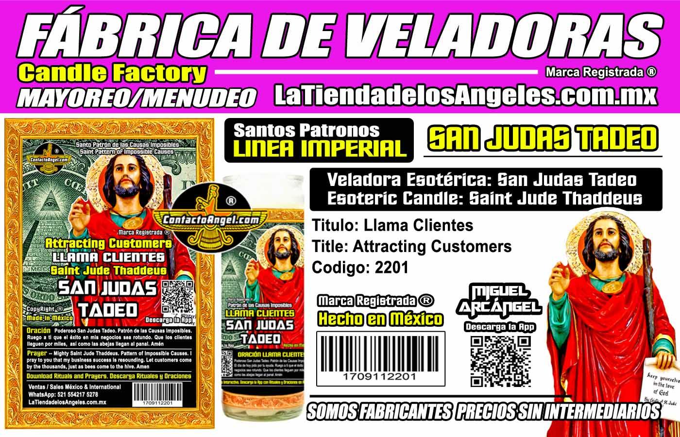 Fábrica de Veladoras Esotéricas CDMX Mayoreo - Veladora San Judas Tadeo Llama Clientes