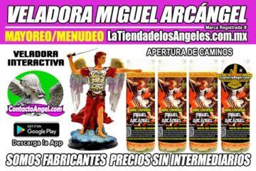 Veladora Arcángel Miguel Abre Caminos - Fábrica de Veladoras Esotéricas Mayoreo ID1 600X400