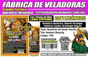 Fábrica de Veladoras Esotéricas CDMX Mayoreo - Veladora Arcángel Gabriel Bendición del Recien Nacido Mal de Ojo