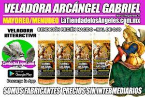 Fábrica de Veladoras Esotéricas CDMX Mayoreo - Veladora Arcángel Gabriel Bendición del Recien Nacido - Mal de Ojo
