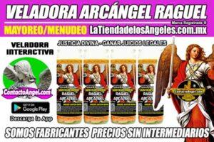 Fábrica de Veladoras Esotéricas CDMX Mayoreo - Veladora Arcángel Raguel Justicia Divina - Ritual para Ganar Juicios Legales