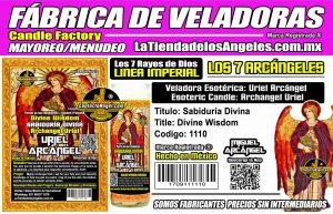 Fábrica de Veladoras Esotéricas CDMX Mayoreo - Veladora Arcángel Uriel Sabiduría Divina - Aprobar Examenes