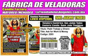 Fábrica de Veladoras Esotéricas CDMX Mayoreo - Veladora San Judas Tadeo Ritual para Encontrar Trabajo y Atraer Dinero