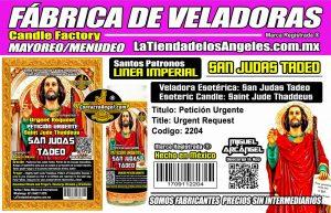 Fábrica de Veladoras Esotéricas CDMX Mayoreo - Veladora San Judas Tadeo Ritual Petición Urgente - Santo Patrón de las Causas Imposibles