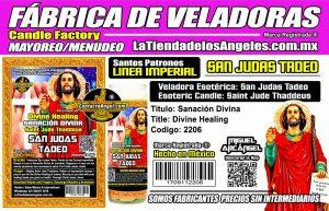 Fábrica de Veladoras Esotéricas CDMX Mayoreo - Veladora San Judas Tadeo Sanación Divina - Sanación Angelical - Oración para enfermos