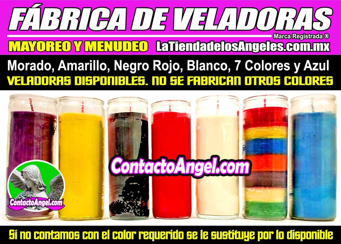FABRICA DE VELADORAS ESOTERICAS MEXICO - COLORES MAYOREO Y MENUDEO