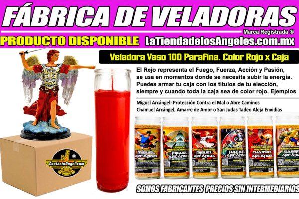 Fábrica de Veladoras Esotéricas México Mayoreo - Veladora Parafina Color ROJO 1